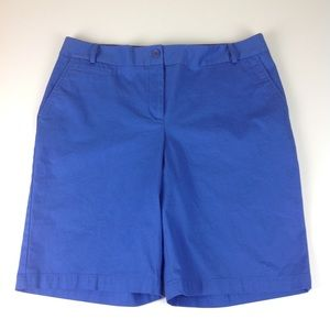 Talbots Stretch Bermuda Shorts Blue Sz 12